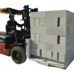 ჰიდრავლიკური Forklift ბეტონის აგური / ბლოკირების ამწევი