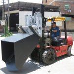 3 ტონა Hyundai Diesel Forklift Attachment Bucket Hinged Fork and Bucket
